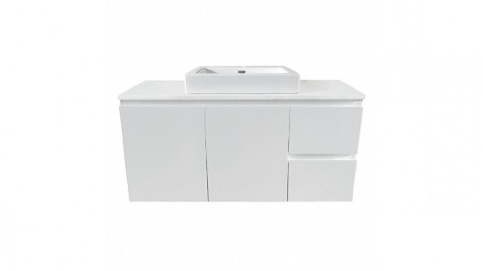 Forme Fifth Avenue 1200mm Right Side Drawer Wall Hung Vanity - Colourstone