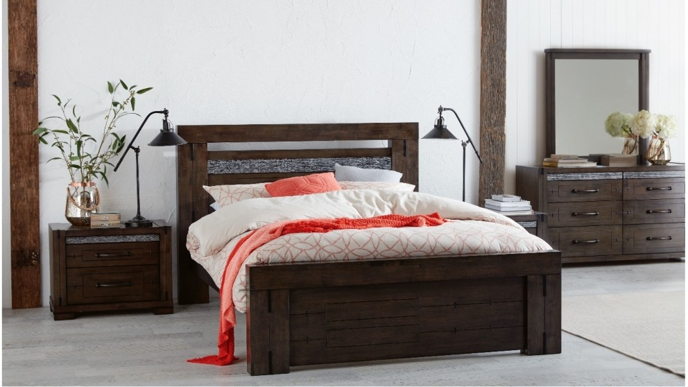 Charlie queen bed beds suites bedroom beds for Bedroom suites with mattress