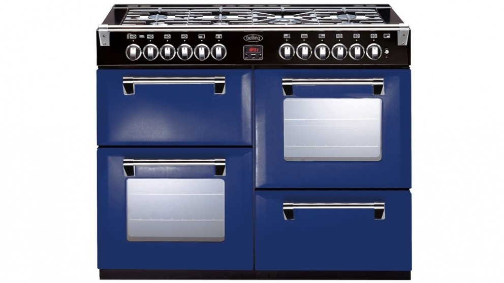 Belling 1100mm Richmond Colour Boutique Dual Fuel Range Freestanding Oven - Midnight Gaze