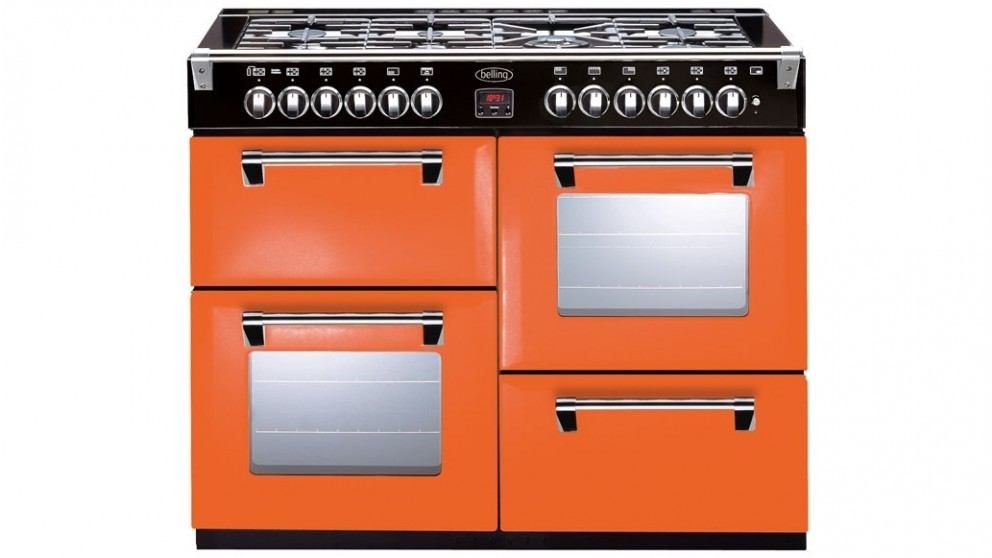 Belling 1100mm Richmond Colour Boutique Dual Fuel Range Freestanding Oven - Peach Blush