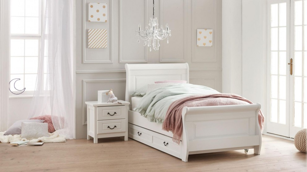 Oxford Single Bed - White