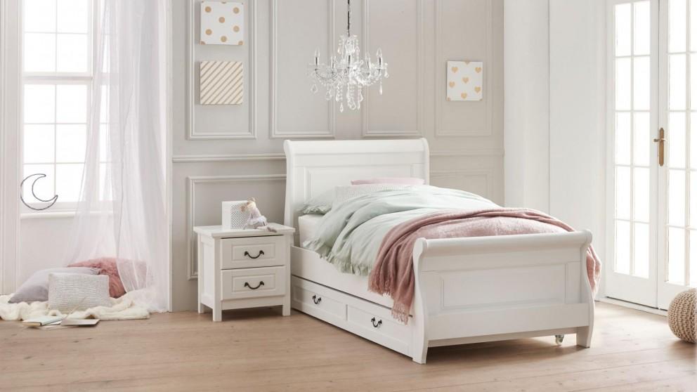 Oxford King Single Bed - White