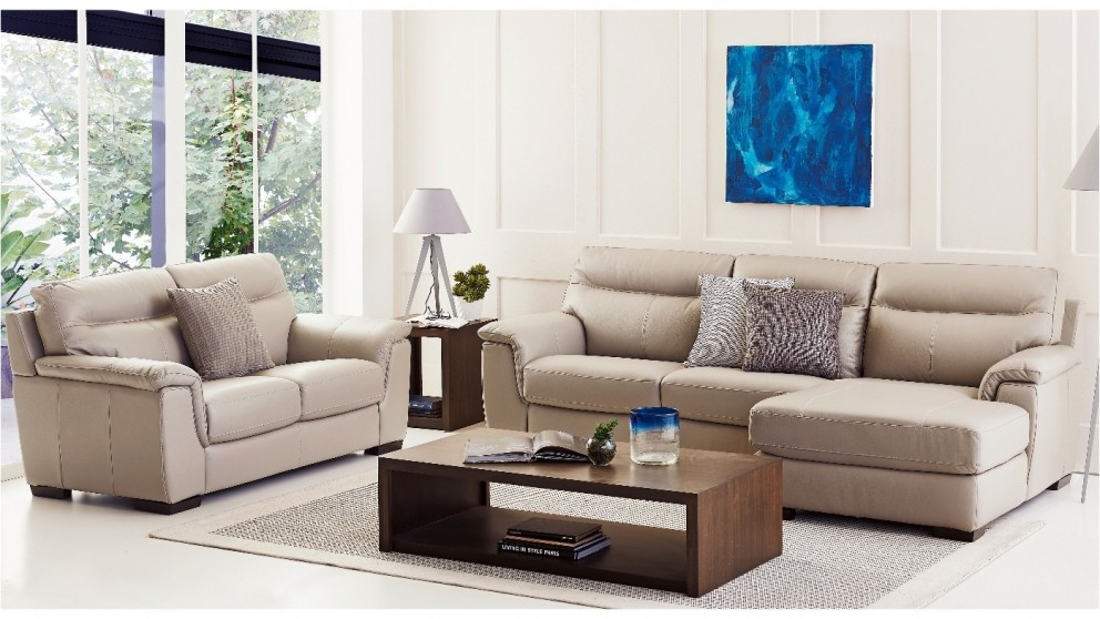 Lilly 3 Seater Leather Sofa with Chaise