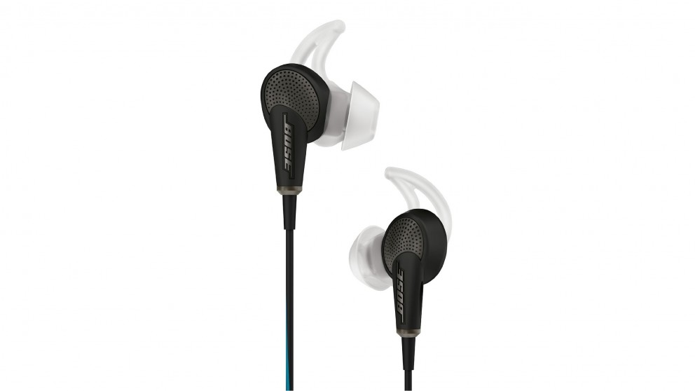 Bose QuietComfort 20 Noise Cancelling In-Ear Headphones for Apple Devices - Black