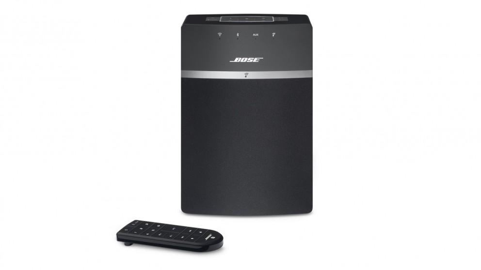 buy bose soundtouch 10 wireless music system speaker black harvey norman au. Black Bedroom Furniture Sets. Home Design Ideas