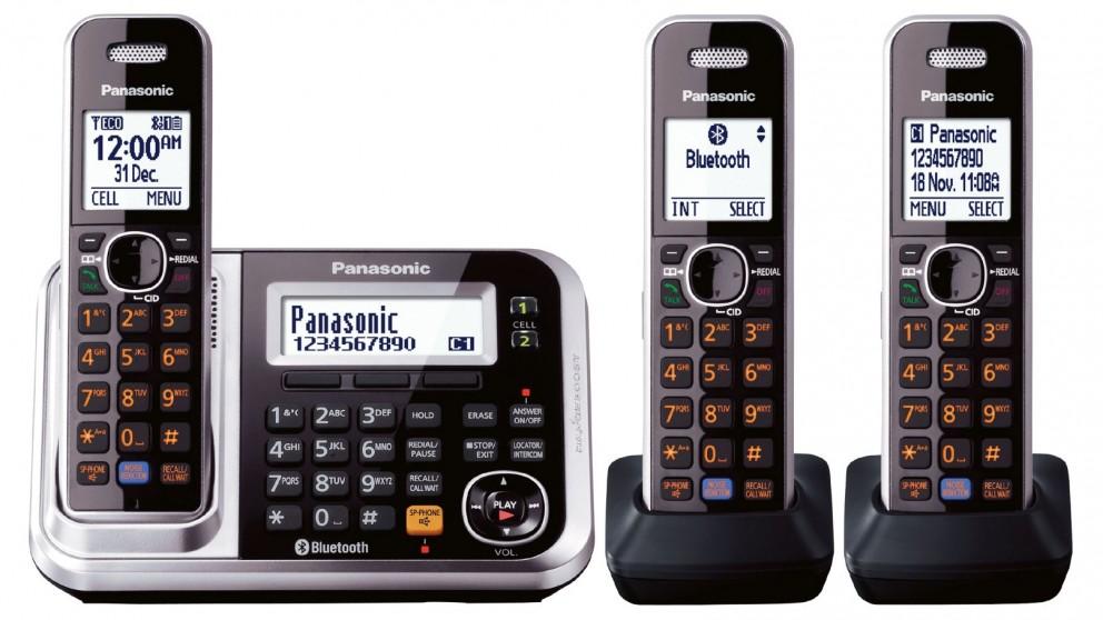 Panasonic KXTG7893AZS Triple Pack Cordless Phone