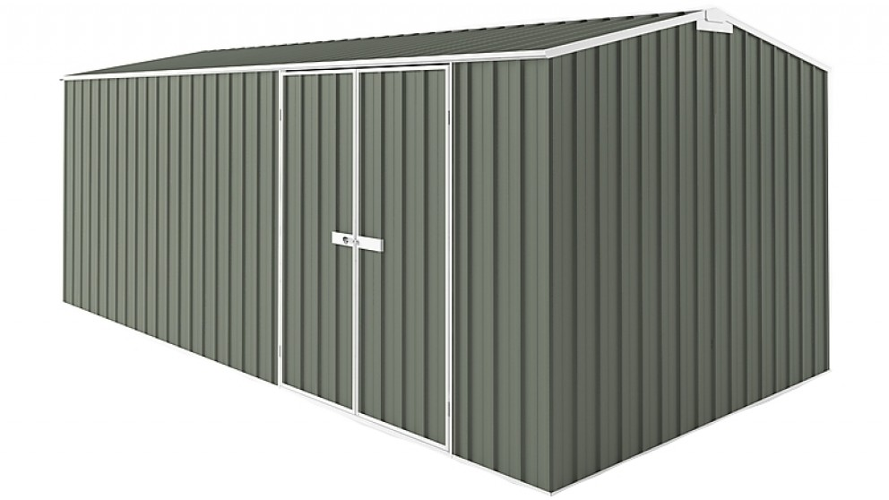 EasyShed Gable Truss Garden Shed - Mist Green