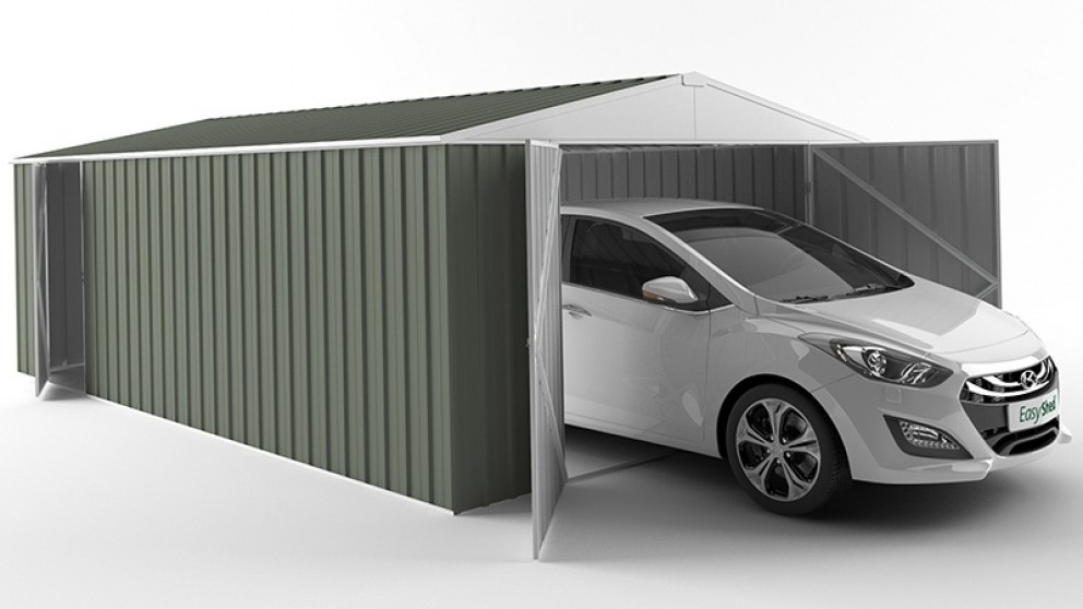 EasyShed Garage Shed - Mist Green