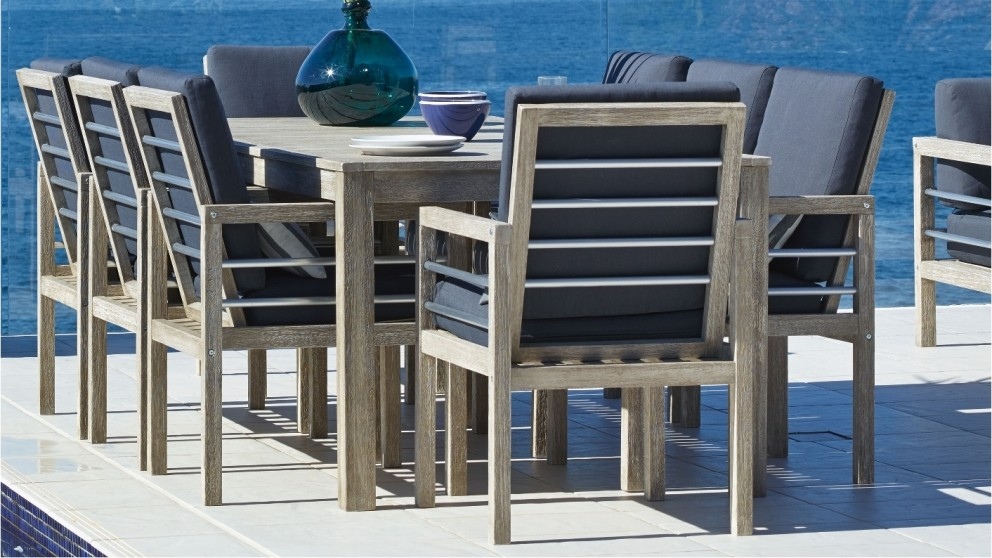 Hayman 9 Piece Outdoor Rectangular Dining Setting Part 97