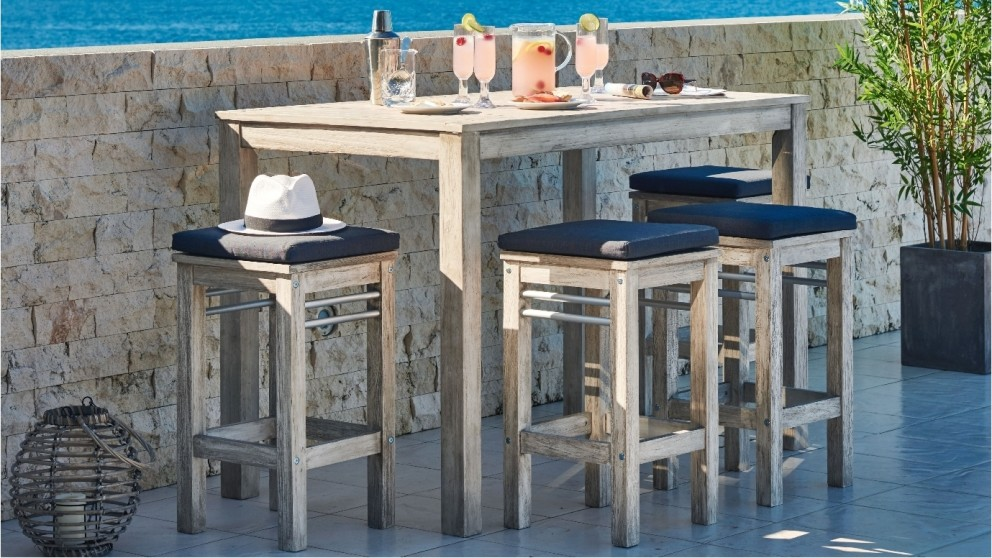 Hayman 5 Piece Outdoor Rectangular Bar Setting Outdoor Dining Outdoor Living Furniture
