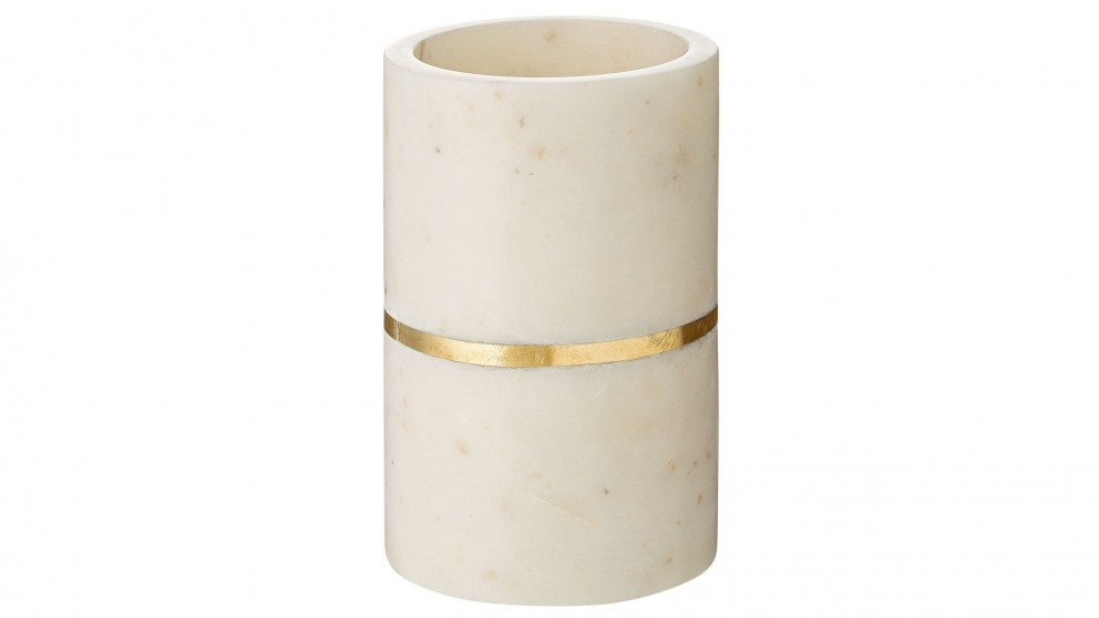 Luxe Marble Small Vessel - Brass
