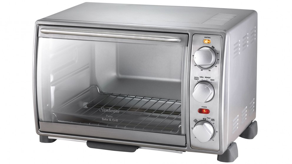sunbeam 19l pizza bake and grill compact oven compact
