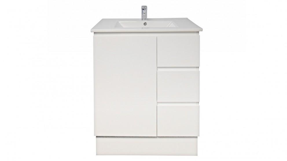 Ledin jane 750mm full depth ceramic top right hand drawer for Bathroom cabinets harvey norman