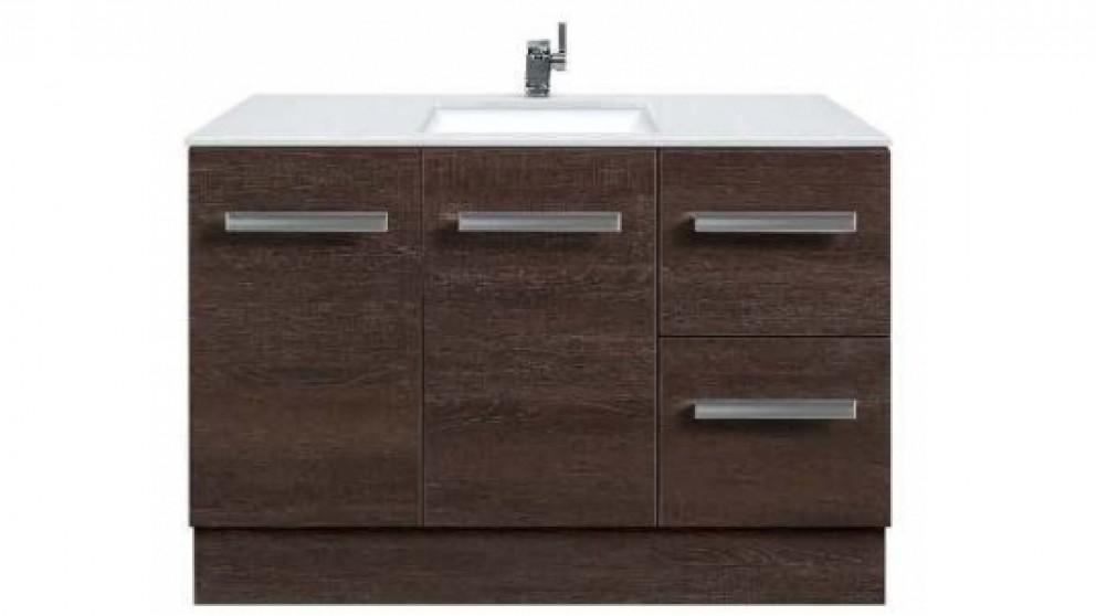 Vanity Bathroom Harvey Norman forme linea 1200mm freestanding vanity - oak - bathroom vanities