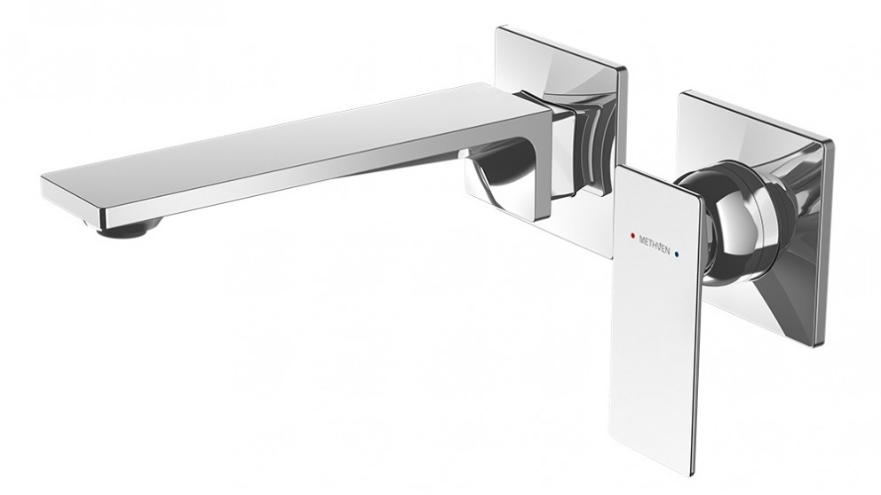 Methven Surface Wall Mounted Basin Mixer with Spout