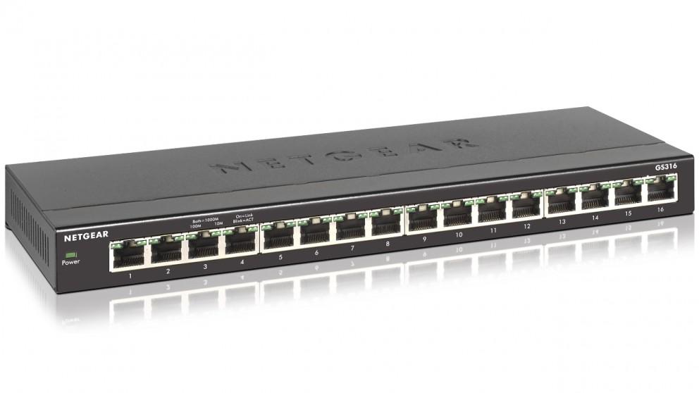 Netgear GS316 16 Port Gigabit Ethernet Switch