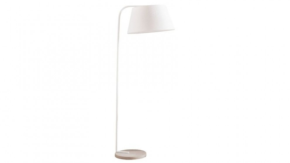 Joii White Cement Floor Lamp