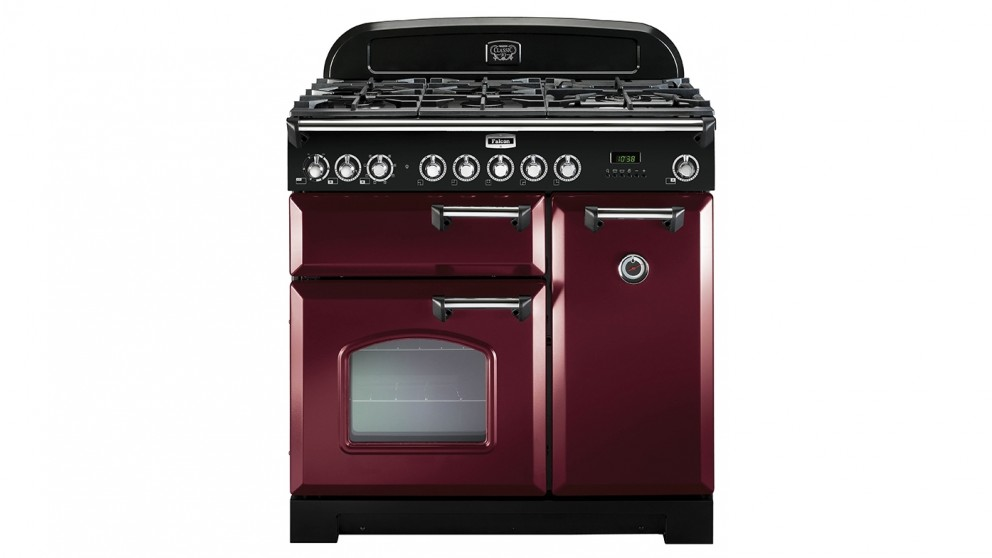 Falcon Classic Deluxe 900mm Dual Fuel Freestanding Cooker - Cranberry Chrome