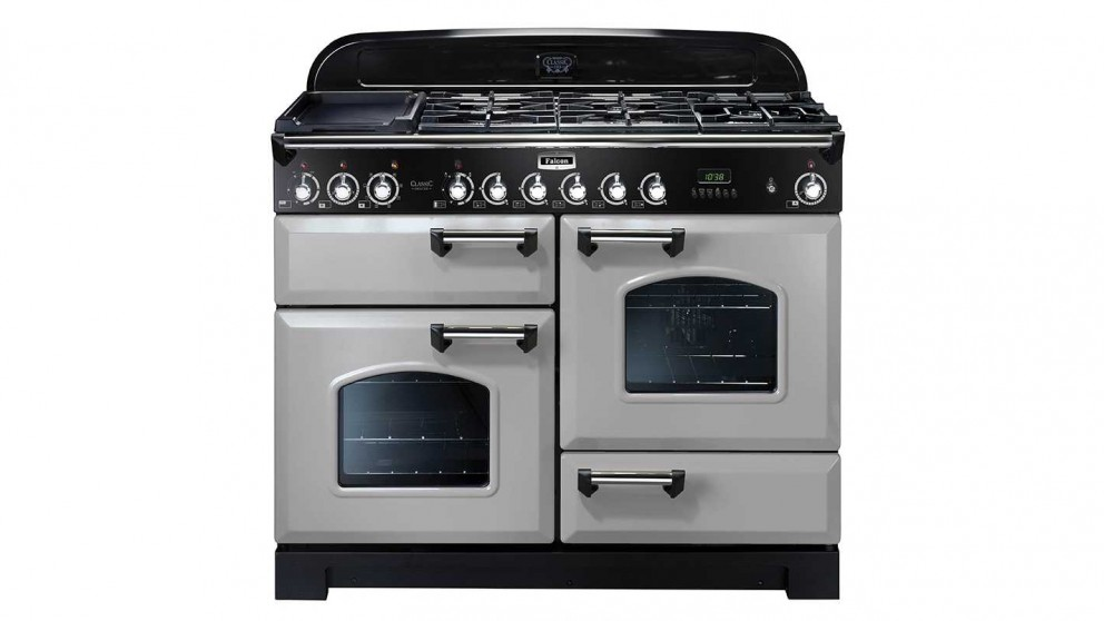 Falcon Classic Deluxe 1100mm Dual Fuel Freestanding Cooker - Royal Pearl Chrome