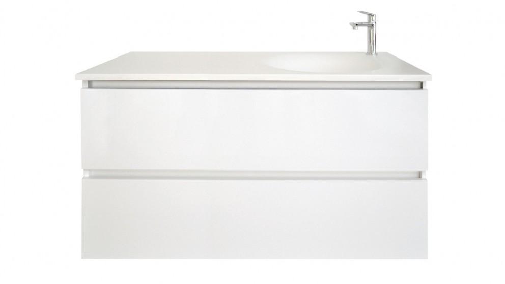 Vanity Bathroom Harvey Norman adp horizon 1200mm wall hanging vanity - bathroom vanities