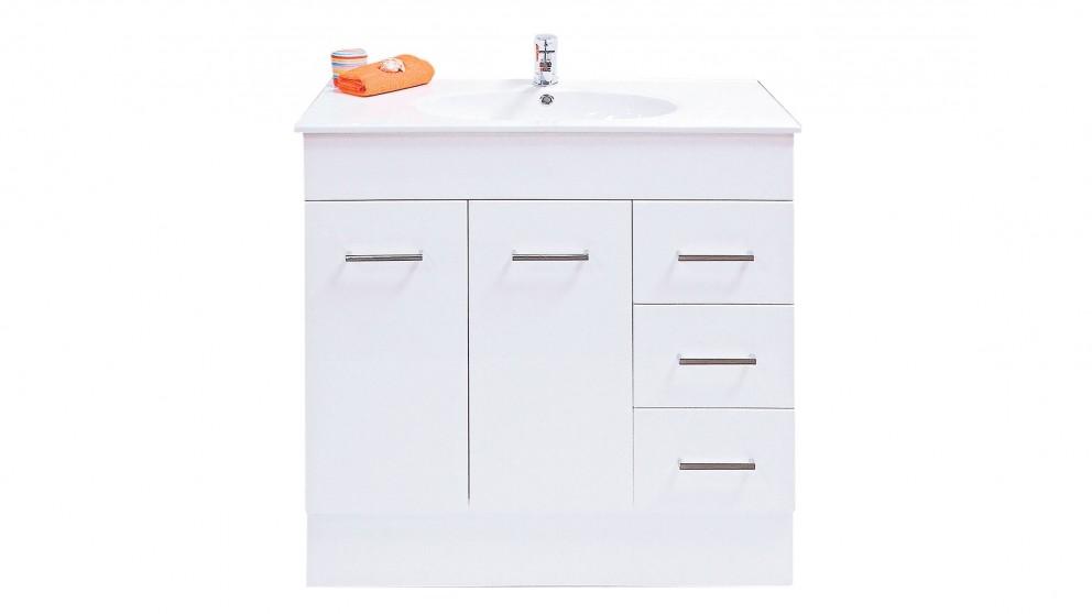 Vanity Bathroom Harvey Norman ledin orion 900mm floorstanding vanity - bathroom vanities