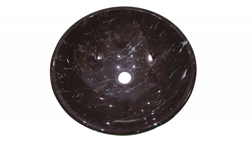 Ledin Onyx 420mm Round Glass Basin