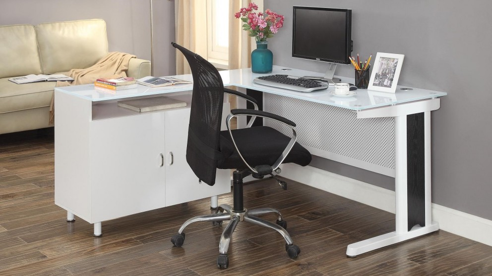 Buy Apex 1600mm Office Desk White Harvey Norman Au