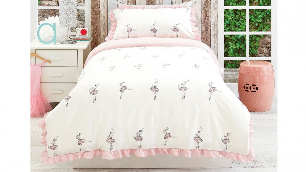 Ballerina Quilt Cover Set - Double