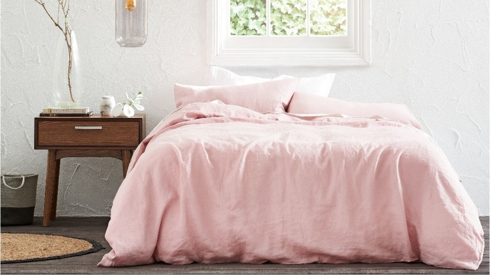 Brooklyn Dusty Pink Quilt Cover Set - Double