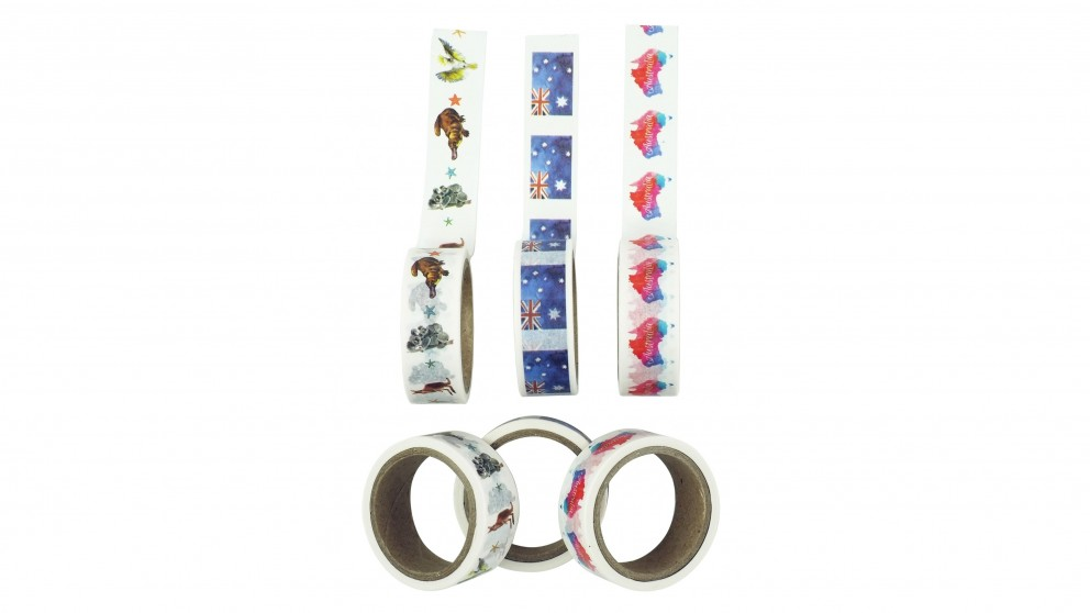 Instax Washi Tape 3 Roll Pack - Australia Watercolour