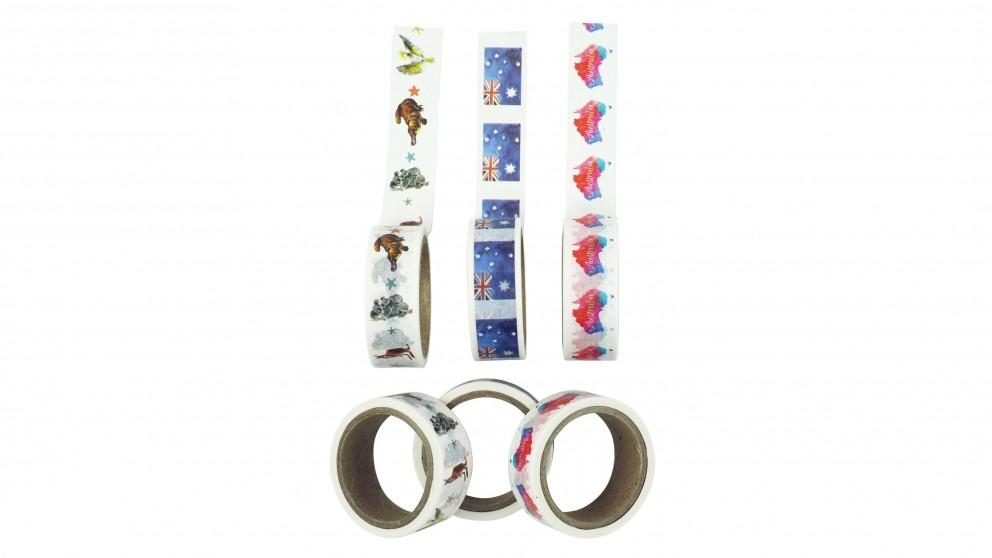 Instax Washi Tape 3 Roll Pack - Australia Watercolour