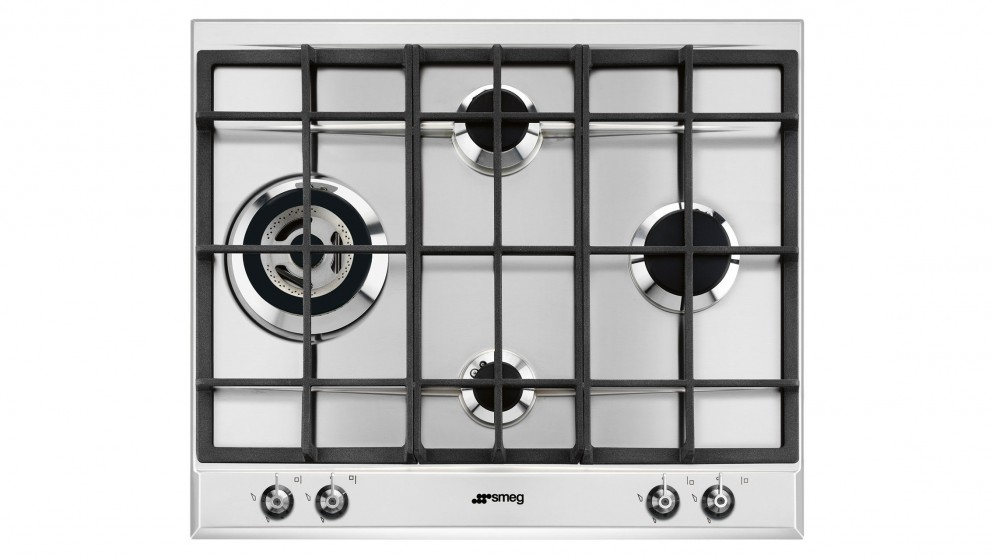 Smeg 600mm 4 Zone Gas Cooktop - Stainless Steel