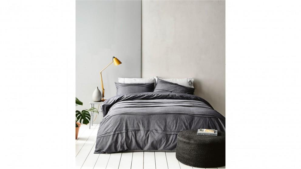 Dixon Grey Single Quilt Cover Set