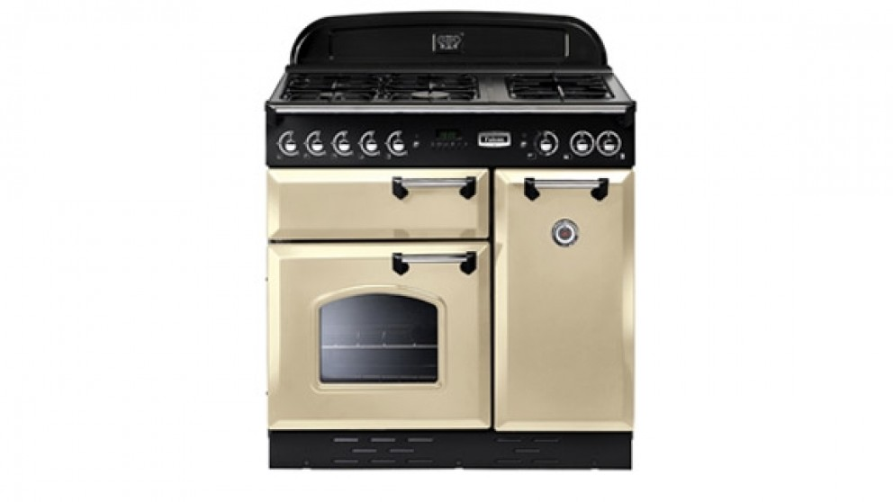Falcon Classic 900mm Dual Fuel Freestanding Cooker - Cream Chrome