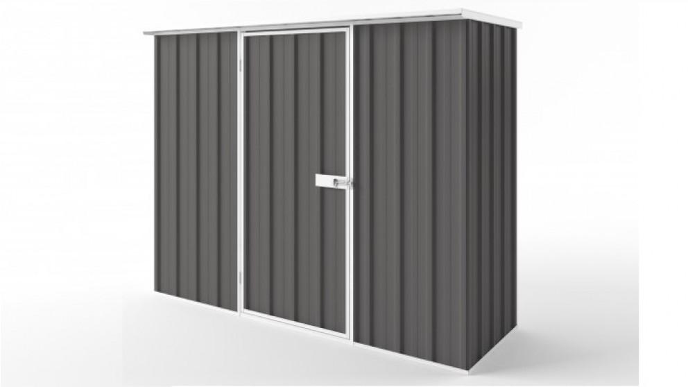 EasyShed S2308 Flat Roof Garden Shed - Slate Grey