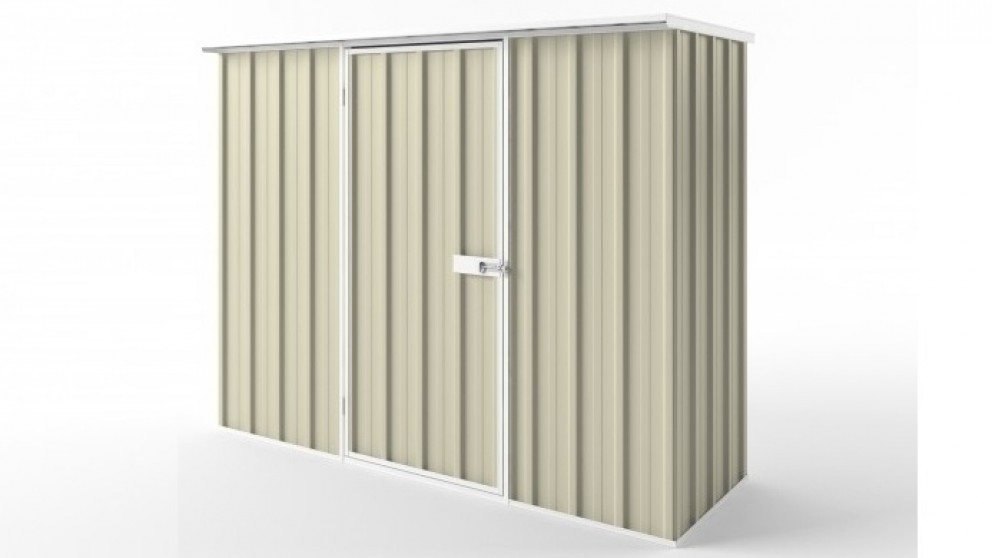 EasyShed S2308 Flat Roof Garden Shed - Smooth Cream