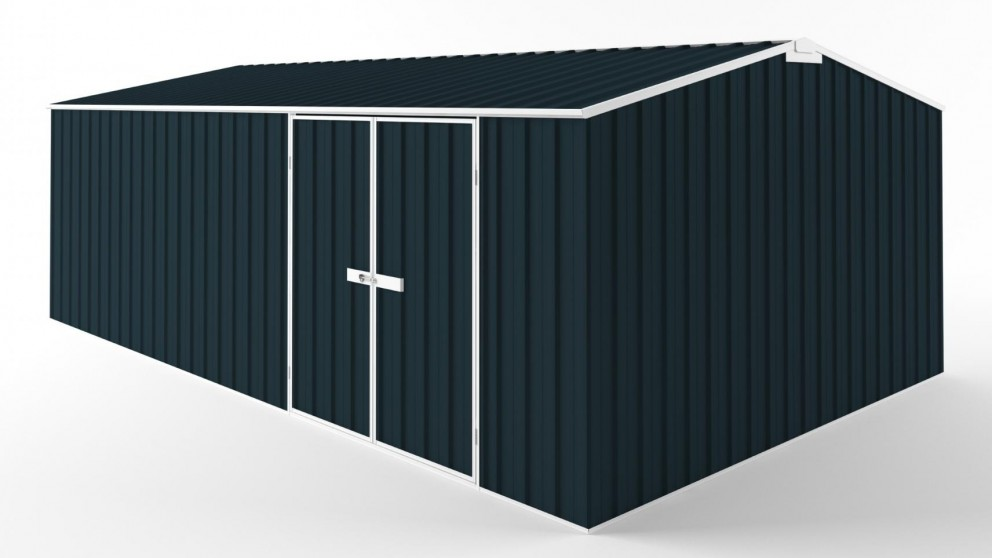 EasyShed D6038 Truss Roof Garden Shed - Mountain Blue