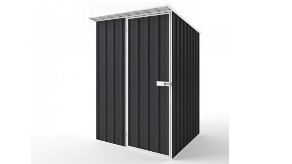 EasyShed S1515 Skillion Roof Garden Shed - Iron Grey