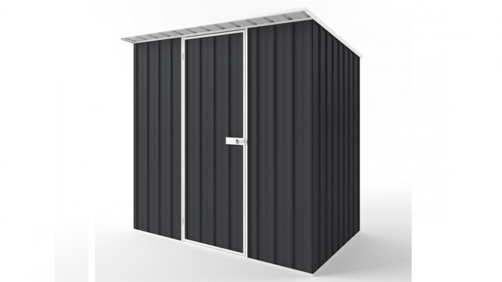 EasyShed S2315 Skillion Roof Garden Shed - Iron Grey