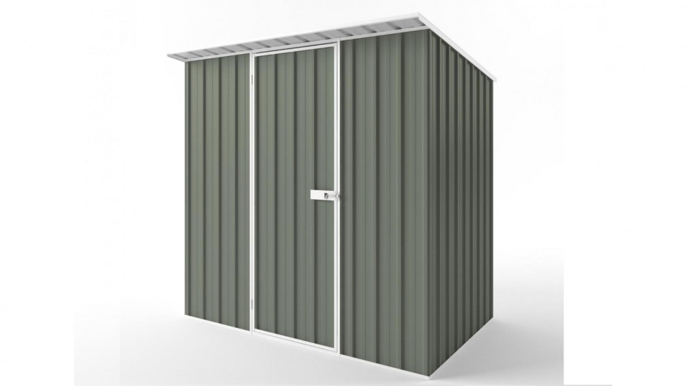 EasyShed S2315 Skillion Roof Garden Shed - Mist Green