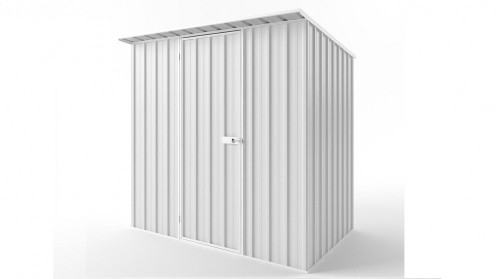 EasyShed S2315 Skillion Roof Garden Shed - Off White