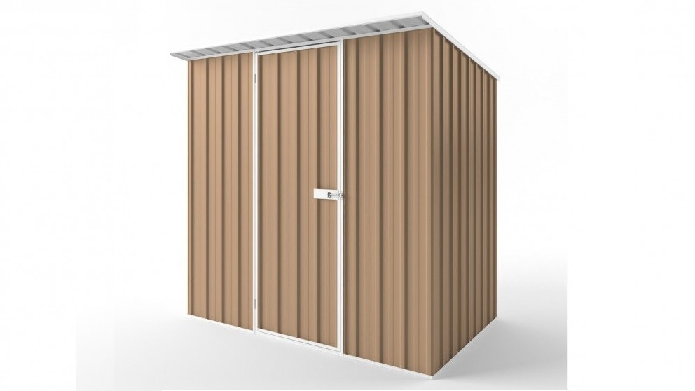 EasyShed S2315 Skillion Roof Garden Shed - Pale Terracotta