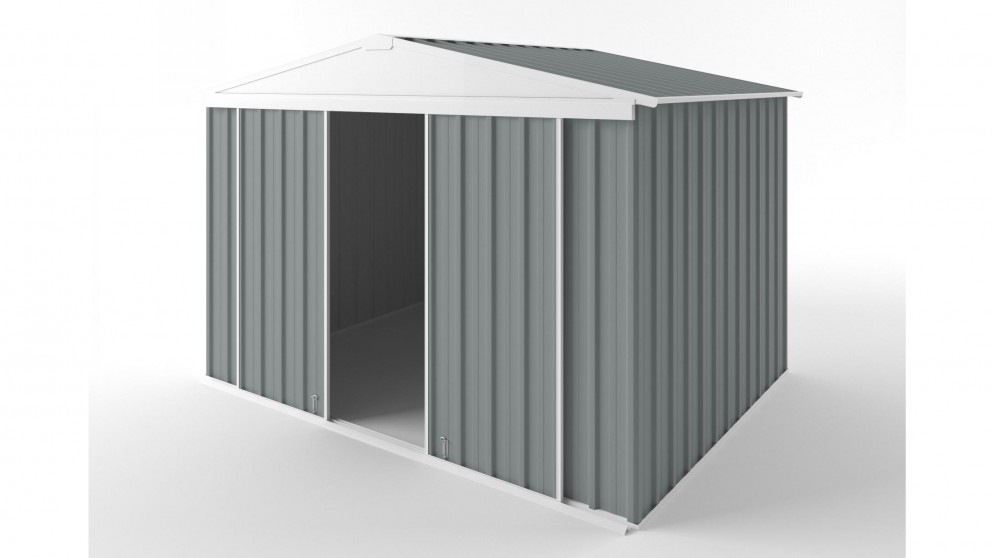 EasyShed D3023 Gable Slider Roof Garden Shed - Armour Grey