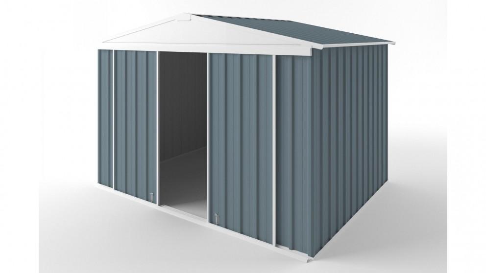 EasyShed D3023 Gable Slider Roof Garden Shed - Blue Horizon