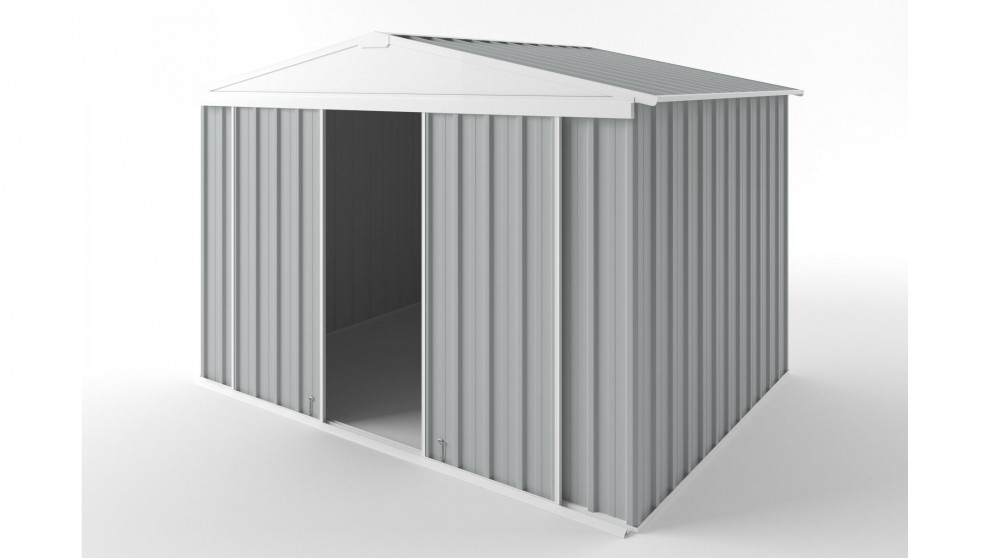EasyShed D3023 Gable Slider Roof Garden Shed - Gull Grey