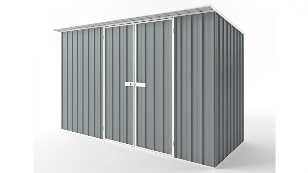 EasyShed D3815 Skillion Roof Garden Shed - Armour Grey