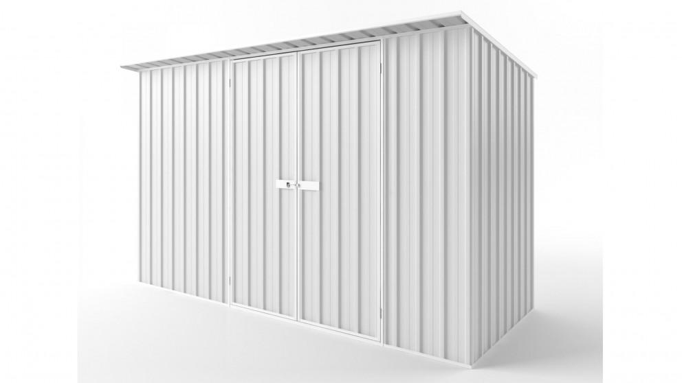 EasyShed D3815 Skillion Roof Garden Shed - Off White