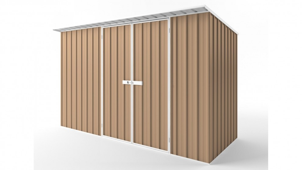 EasyShed D3815 Skillion Roof Garden Shed - Pale Terracotta
