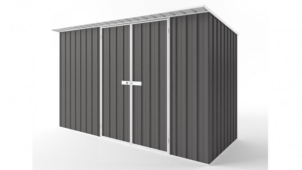 EasyShed D3815 Skillion Roof Garden Shed - Slate Grey