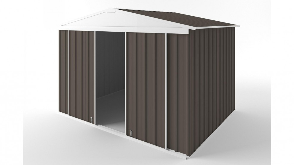 EasyShed D3023 Gable Slider Roof Garden Shed - Jasmine Brown